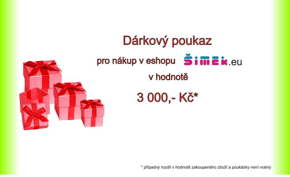 Dárkový kupon - 3000 Kč