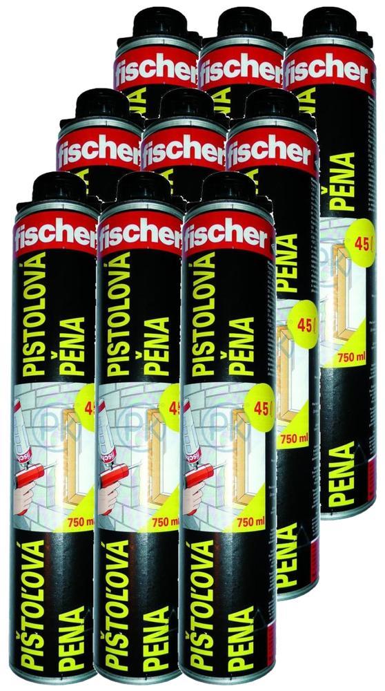 Fischer Polyuretanová pěna PUP 750 letní, 12ks v balení