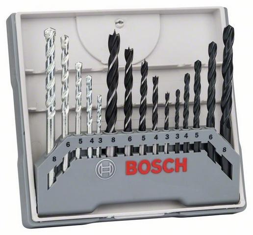 Bosch 15dílná smíšená sada vrtáků