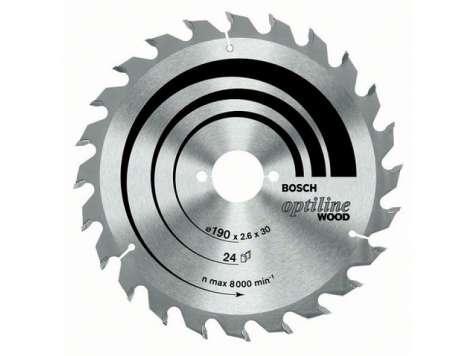 Bosch Pilový kotouč Optiline ECO Wood 190x30 24WZ
