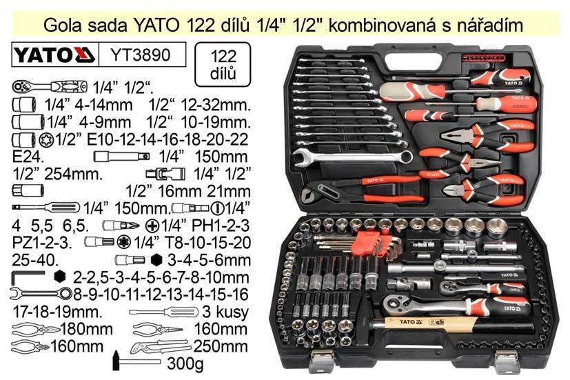 Yato Gola sada 1/4+1/2 122dílů