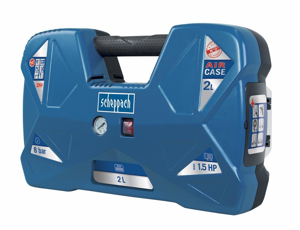 Scheppach Lehký přenosný bezolejový kompresor AIR CASE