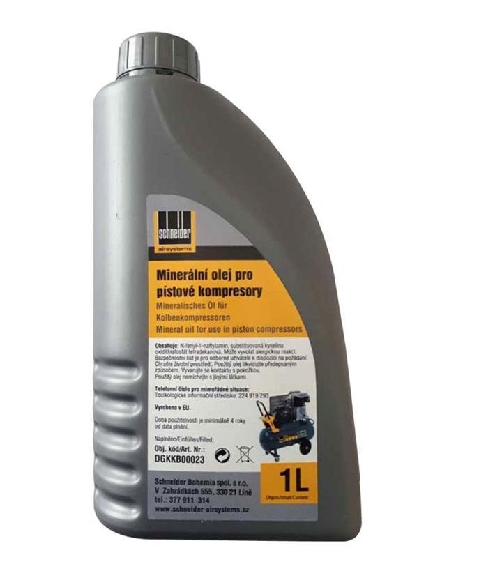 Schneider Minerální olej pro pístové kompresory 1L