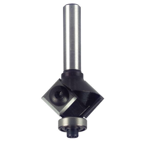 Igm Úhlová žiletková fréza s ložiskem Z2 D28x12 B16 S=8mm Z2 HM