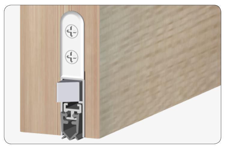 Isolporte Padací lišta pro dveře Standard - oboustranná, silicone, 1230 mm