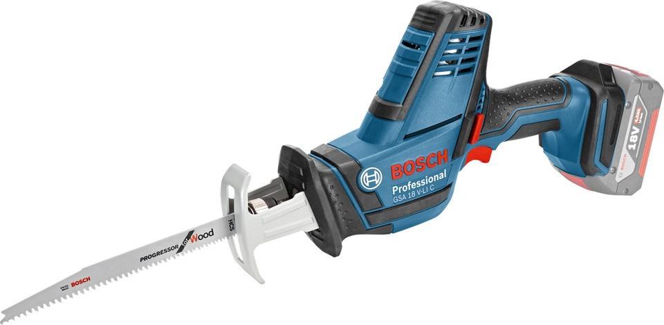 Bosch Aku pila ocaska GSA 18 V-LI C Professional 2x4,0Ah