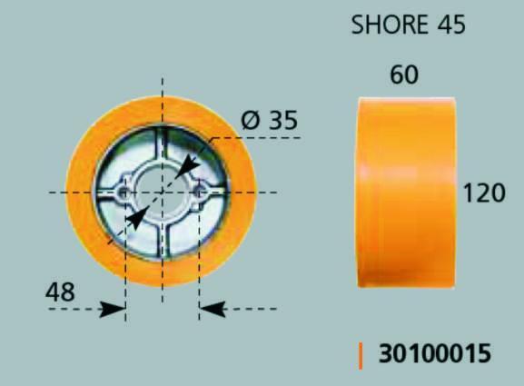 Maggi Kolečko náhradní k podavači 120x60 mm