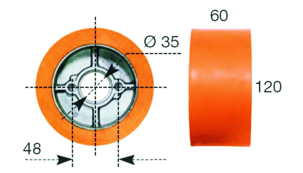 Maggi Kolečko náhradní k podavači 120x60mm, FEEDER GRIP 363