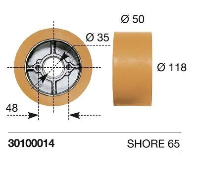 Maggi Kolečko náhradní k podavači 118x50 mm