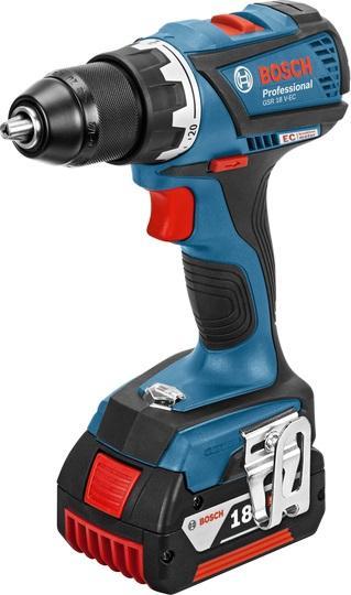 Bosch Aku vrtací šroubovák GSR 18 V-EC Professional 2x4,0Ah L-Boxx