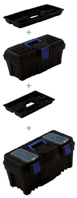 Proma Plastový box s organizérem 2v1 - KP-1522SET