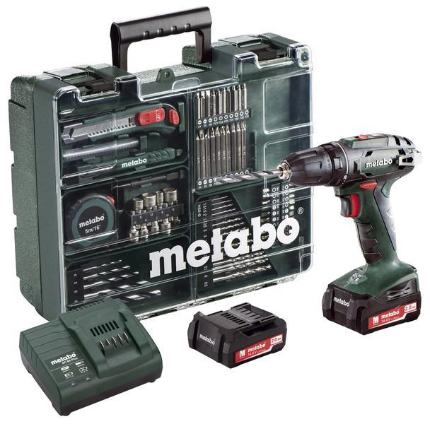 Metabo Aku vrtačka BS 14,4 Li Mobilní dílna, 2x2,0Ah Li