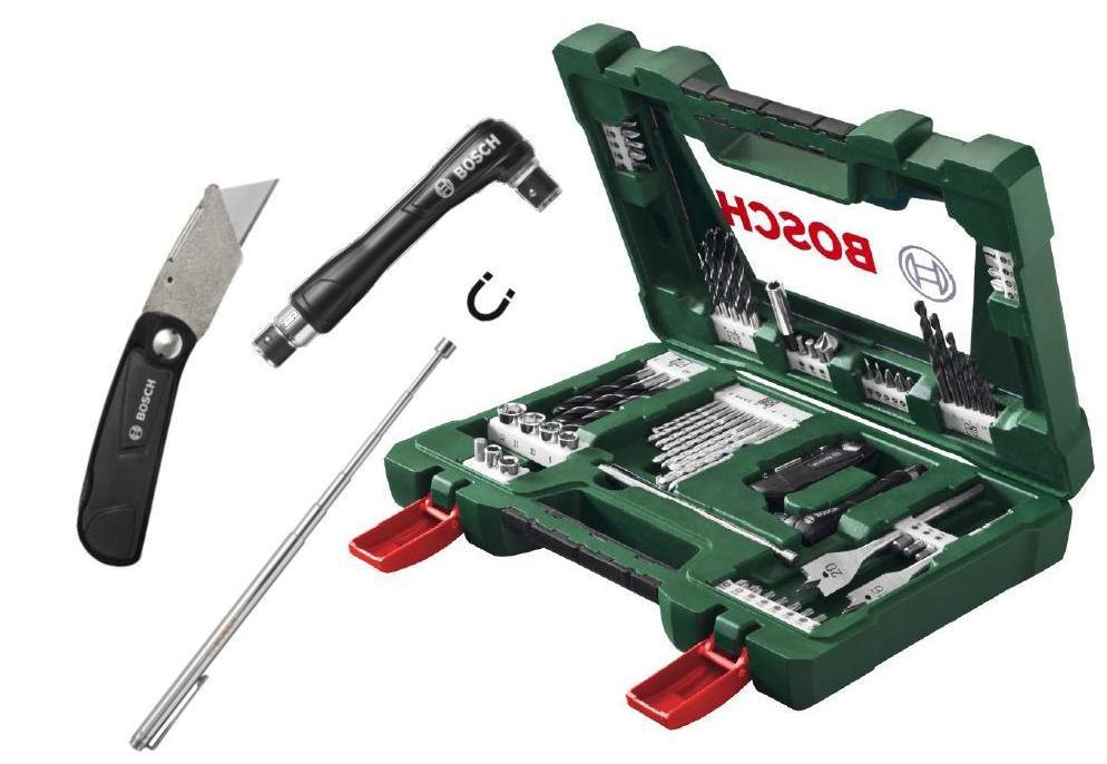Bosch Sada Bosch 68 dílná bitů a vrtáků s univ. nožem, teleskopem a šroubovákem