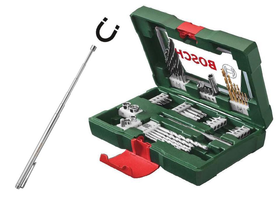 Bosch Sada Bosch 48 dílná TiN šroubovacích bitů a vrtáků s magnetickým teleskopem
