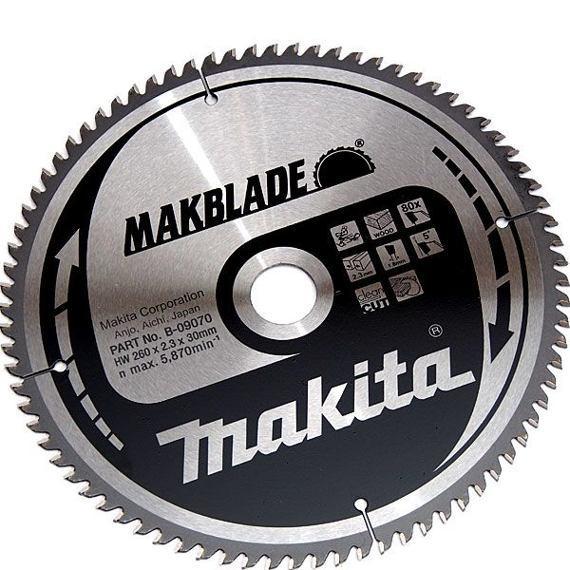 Makita Pilový kotouč 260x2,3x30 80t