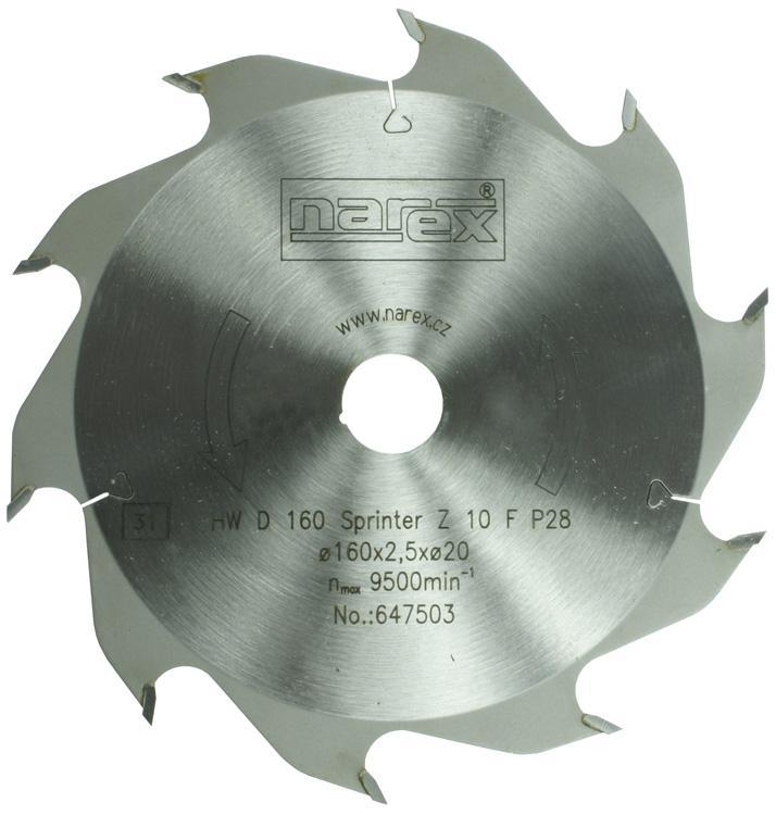 Narex Pilový kotouč Sprinter 160x2,5x20 10FZ