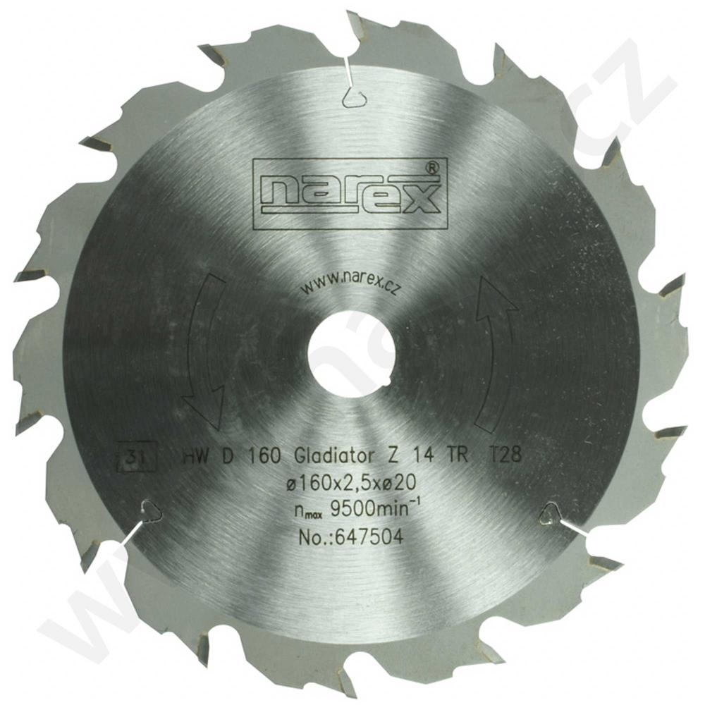 Narex Pilový kotouč Gladiator 160x2,5x20 14TR