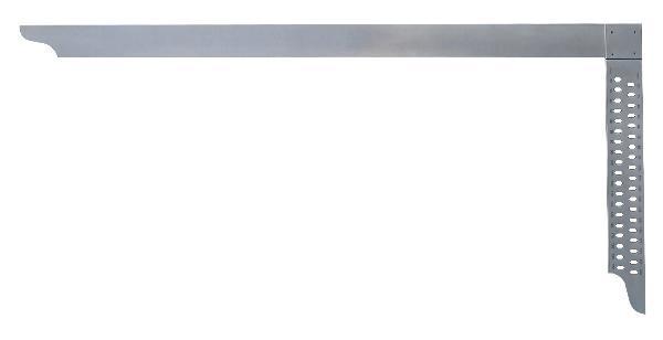 Hedü Tesařský úhelník 600 x 280 mm s opisovacími otvory, bez mm stupnice