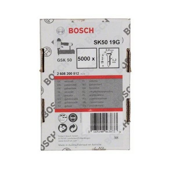 Bosch Hřebíky se zápustnou hlavou SK50 19G 5000ks