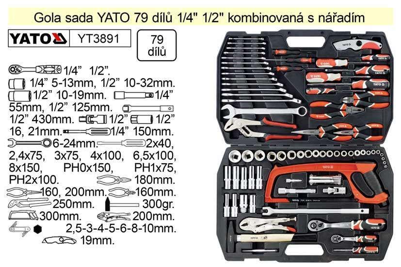Yato Gola sada 1/4+1/2 79 dílů