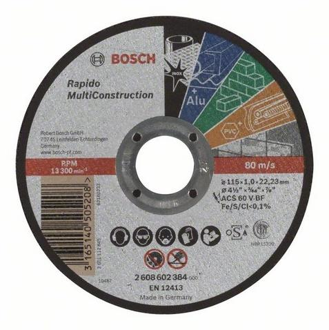Bosch řezný kotouč 115x1 mm rapido multi construction