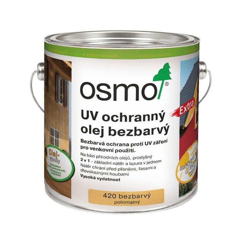 Osmo UV ochranný olej EXTRA 420, bezbarvý nátěr s UV ochranou 0,75L