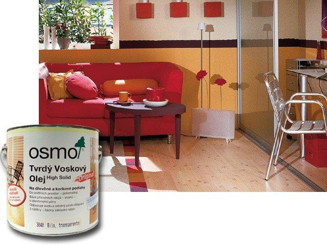 Osmo Tvrdý voskový olej effekt - na podlahy, 0,75l zlatá 3092