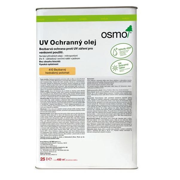 Osmo Uv ochranný olej bezbarvý 410 - na nábytek, stěnu a strop 25l