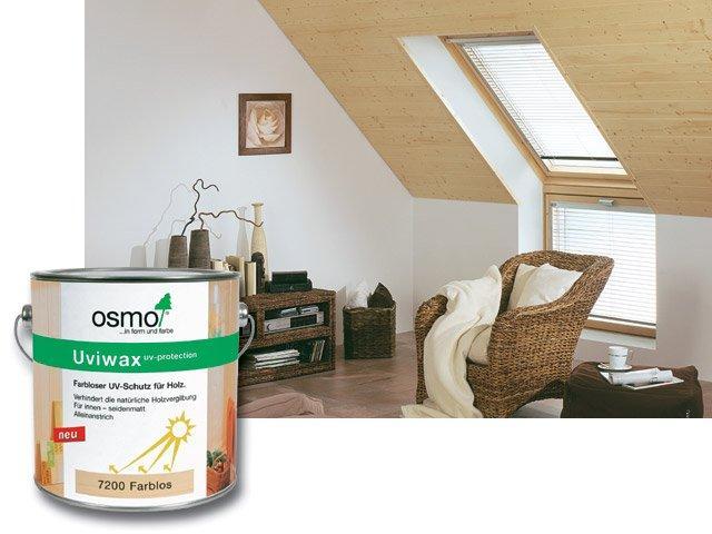 Osmo Uviwax 7200 - UV ochrana - na nábytek, stěny a strop 25l
