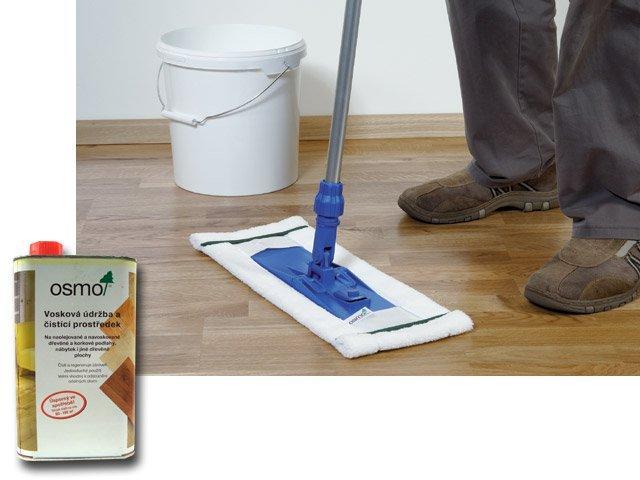 Osmo Vosková údržba a čistící prostředek 3087 bílá - na podlahy a nábytek s bílým povrchem 1l