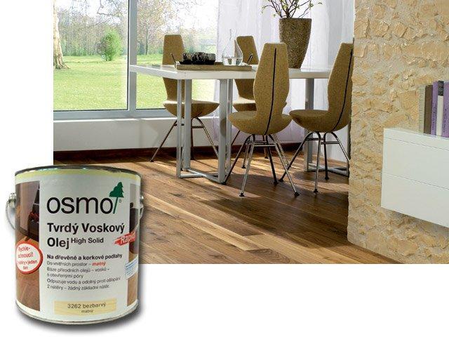Osmo Tvrdý voskový olej RAPID na podlahy 2,5L bílý transparentní 3240