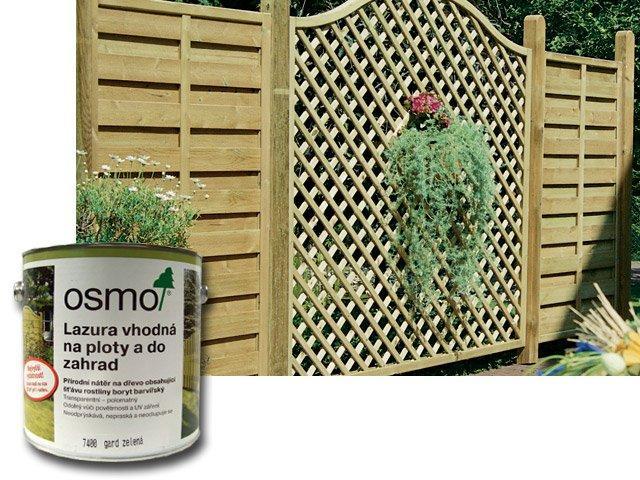 Osmo Lazura vhodná na ploty a do zahrad 0,75 gard zelená 7400