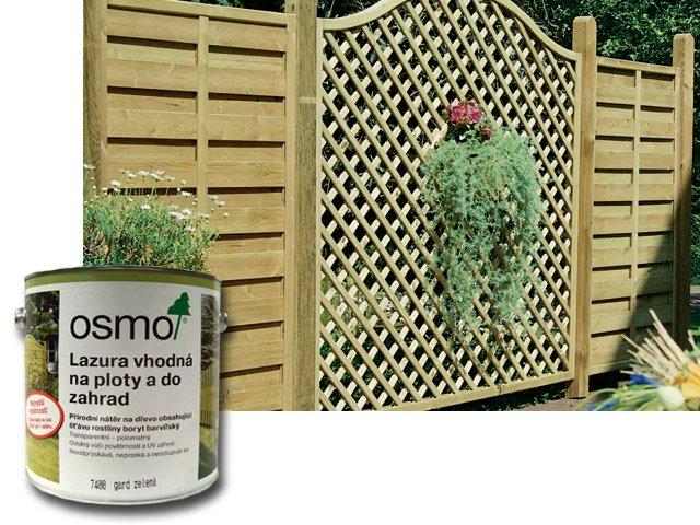 Osmo Lazura vhodná na ploty a do zahrad 2,5l gard zelená 7400