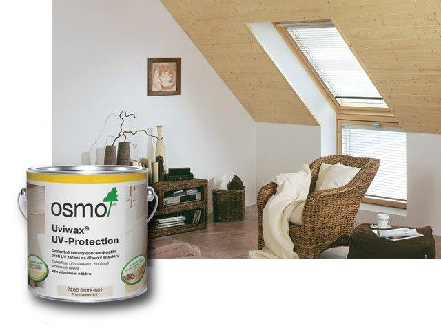 Osmo Uviwax 7266 - UV ochrana - na nábytek, stěny a strop 0,75l bílý smrk transparentní 7266