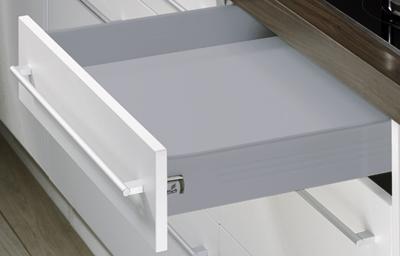 Hettich Zásuvková sada MultiTech, výška 86mm, 500 mm, šedá