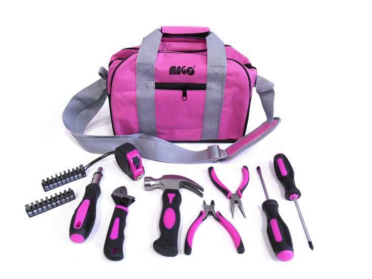 Magg Sada růžového nářadí pro dámy - Magg Lady bag 28 dílů
