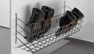 Hettich Držák na boty, 2-řady, 257 mm, chromované