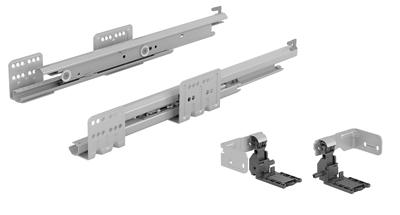 Hettich Sada Výsuv Actro s Push to open, 350 mm, 40 kg