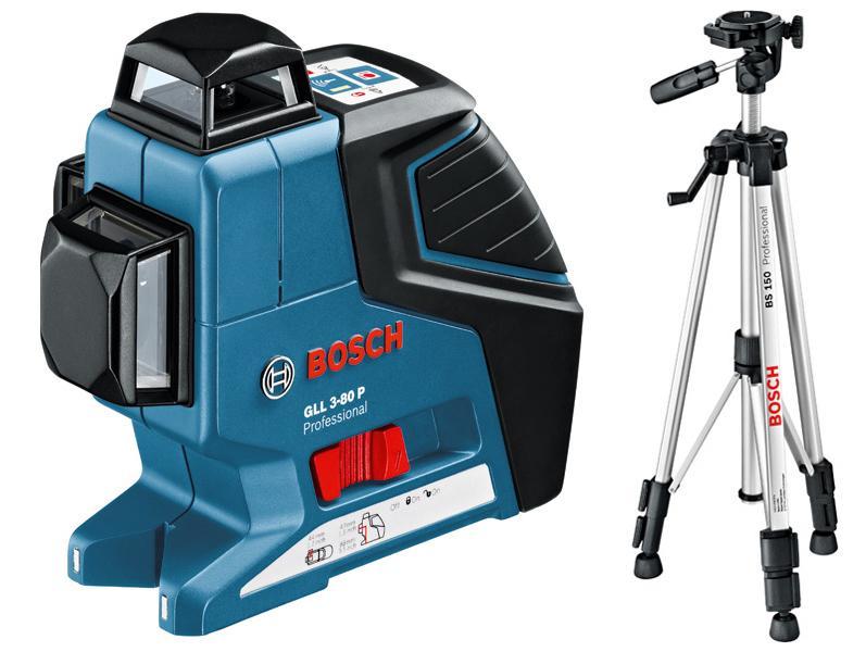 Bosch Křížový laser GLL 3-80 P Professional + stativ BS 150 Professional
