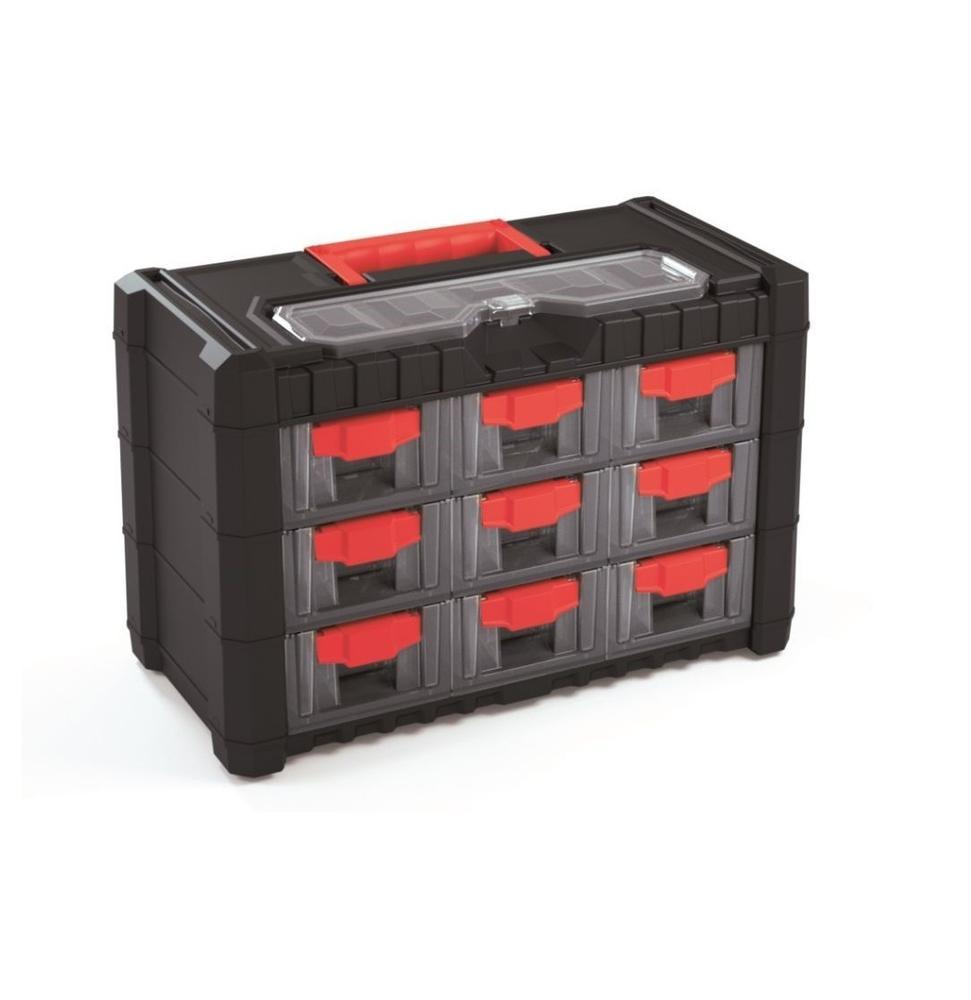 Mat Plastová skříňka CARGO 400x200x260 mm, 9+1 zásuvek