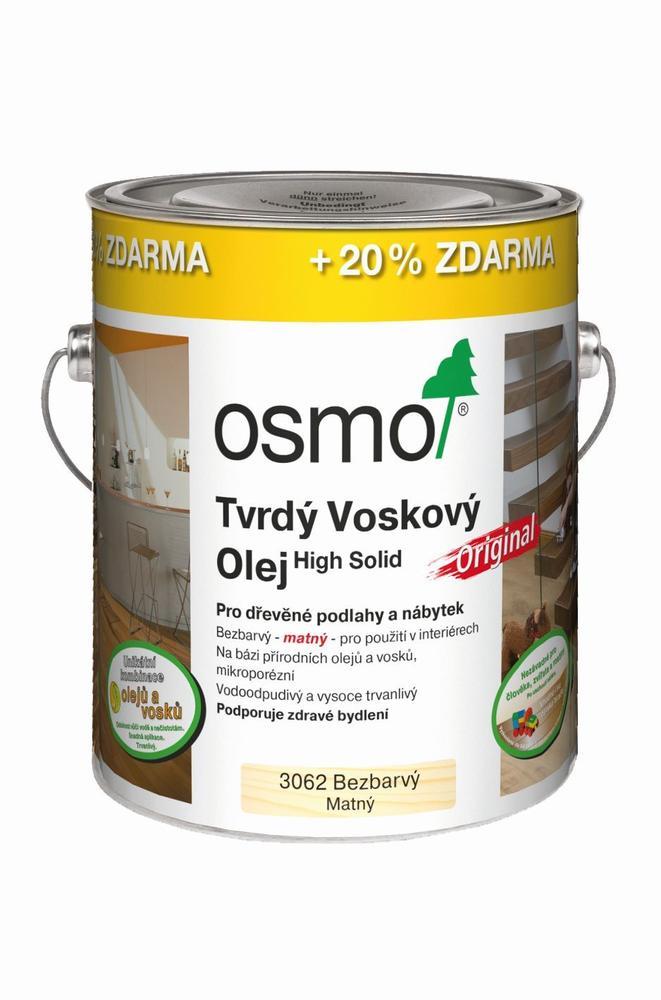 Osmo Tvrdý voskový olej Original - 3,0l bezbarvý - mat 3062 - !