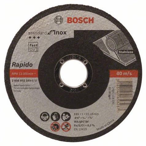 Bosch Řezný kotouč 115x1 mm Standard for Inox - Rapido